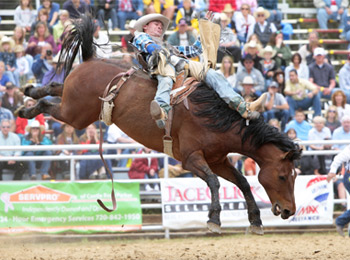 cowboy-riding-bucking-horse-with-saddle-in-rodeo-event